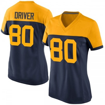 Women's Nike Green Bay Packers Donald Driver Navy Alternate Jersey - Game