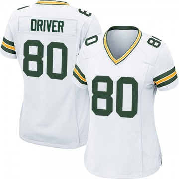 Women's Nike Green Bay Packers Donald Driver White Jersey - Game