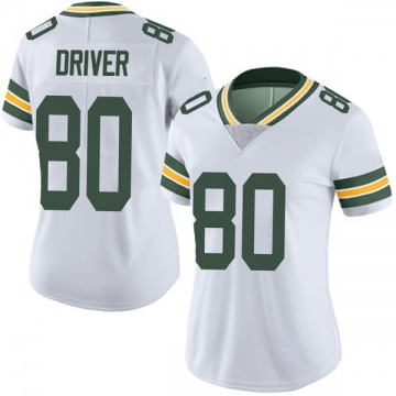 Women's Nike Green Bay Packers Donald Driver White Vapor Untouchable Jersey - Limited
