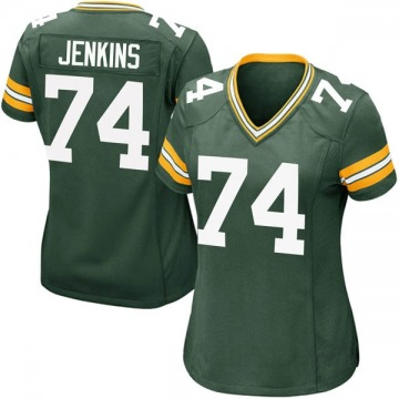 Women's Nike Green Bay Packers Elgton Jenkins Green Team Color Jersey - Game