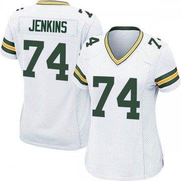Women's Nike Green Bay Packers Elgton Jenkins White Jersey - Game