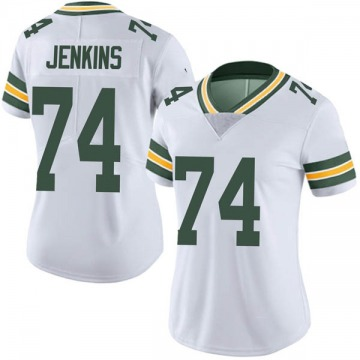 Women's Nike Green Bay Packers Elgton Jenkins White Vapor Untouchable Jersey - Limited