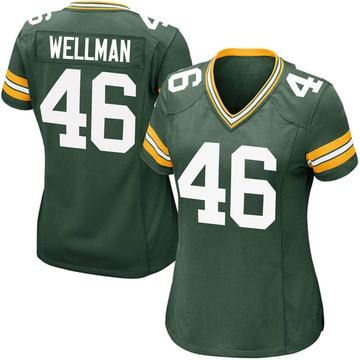 Women's Nike Green Bay Packers Elijah Wellman Green Team Color Jersey - Game