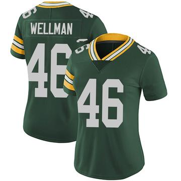 Women's Nike Green Bay Packers Elijah Wellman Green Team Color Vapor Untouchable Jersey - Limited