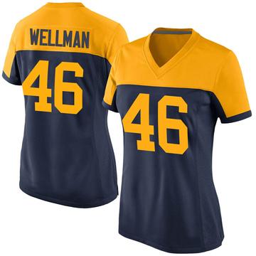 Women's Nike Green Bay Packers Elijah Wellman Navy Alternate Jersey - Game