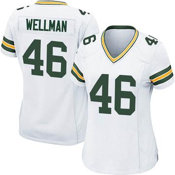 Women's Nike Green Bay Packers Elijah Wellman White Jersey - Game