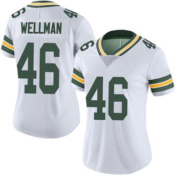 Women's Nike Green Bay Packers Elijah Wellman White Vapor Untouchable Jersey - Limited