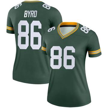 Women's Nike Green Bay Packers Emanuel Byrd Green Jersey - Legend