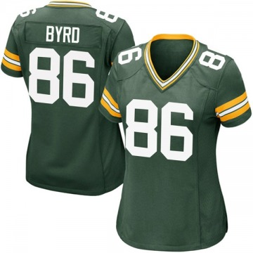 Women's Nike Green Bay Packers Emanuel Byrd Green Team Color Jersey - Game