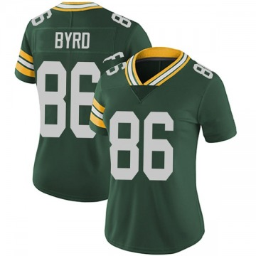 Women's Nike Green Bay Packers Emanuel Byrd Green Team Color Vapor Untouchable Jersey - Limited