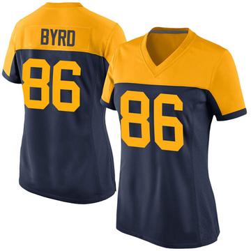 Women's Nike Green Bay Packers Emanuel Byrd Navy Alternate Jersey - Game