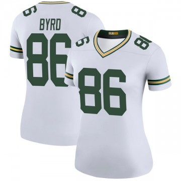 Women's Nike Green Bay Packers Emanuel Byrd White Color Rush Jersey - Legend