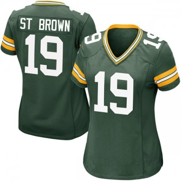 Women's Nike Green Bay Packers Equanimeous St. Brown Green Team Color Jersey - Game