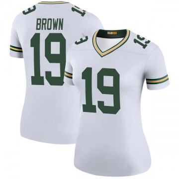 Women's Nike Green Bay Packers Equanimeous St. Brown White Color Rush Jersey - Legend