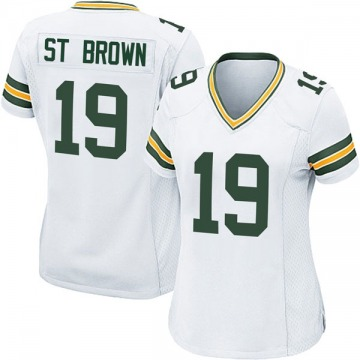 Women's Nike Green Bay Packers Equanimeous St. Brown White Jersey - Game