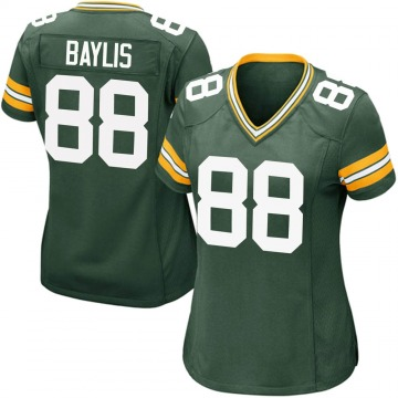 Women's Nike Green Bay Packers Evan Baylis Green Team Color Jersey - Game