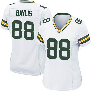 Women's Nike Green Bay Packers Evan Baylis White Jersey - Game