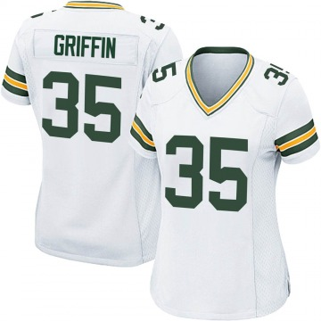 Women's Nike Green Bay Packers Frankie Griffin White Jersey - Game
