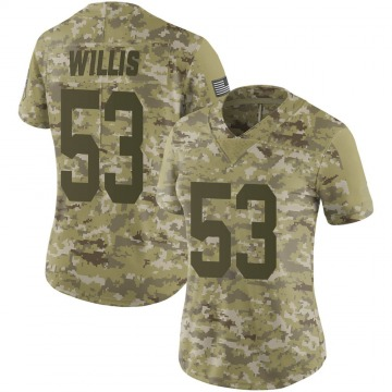 Women's Nike Green Bay Packers Gerald Willis III Camo 2018 Salute to Service Jersey - Limited