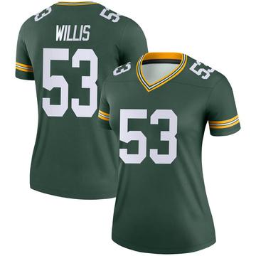 Women's Nike Green Bay Packers Gerald Willis III Green Jersey - Legend