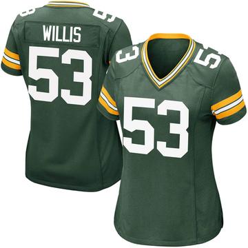 Women's Nike Green Bay Packers Gerald Willis III Green Team Color Jersey - Game