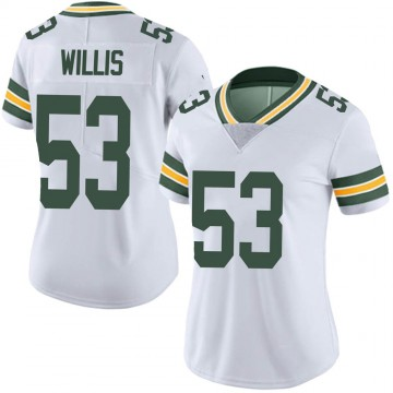 Women's Nike Green Bay Packers Gerald Willis III White Vapor Untouchable Jersey - Limited