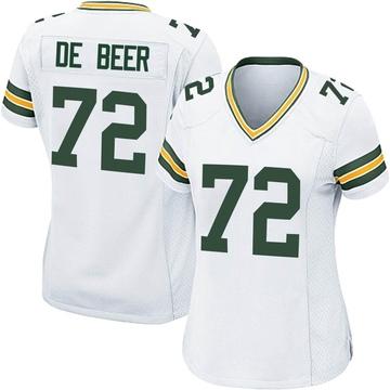 Women's Nike Green Bay Packers Gerhard de Beer White Jersey - Game