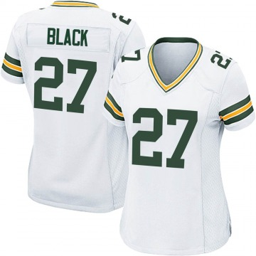 Women's Nike Green Bay Packers Henry Black White Jersey - Game