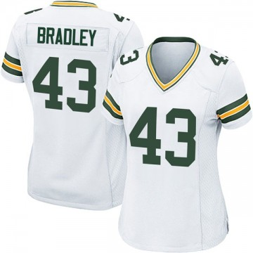 Women's Nike Green Bay Packers Hunter Bradley White Jersey - Game