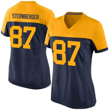 Women's Nike Green Bay Packers Jace Sternberger Navy Alternate Jersey - Game