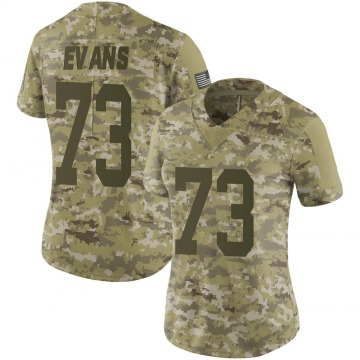Women's Nike Green Bay Packers Jahri Evans Camo 2018 Salute to Service Jersey - Limited