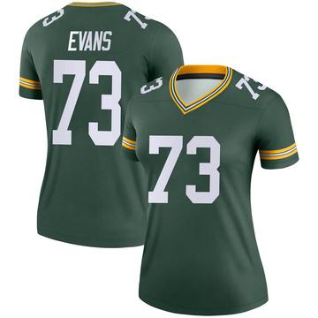 Women's Nike Green Bay Packers Jahri Evans Green Jersey - Legend