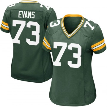 Women's Nike Green Bay Packers Jahri Evans Green Team Color Jersey - Game