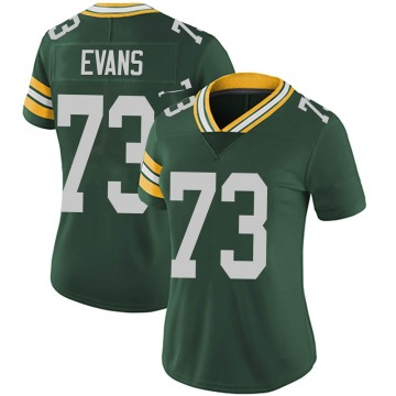 Women's Nike Green Bay Packers Jahri Evans Green Team Color Vapor Untouchable Jersey - Limited