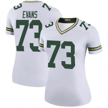 Women's Nike Green Bay Packers Jahri Evans White Color Rush Jersey - Legend