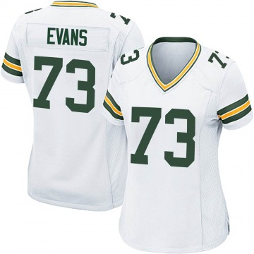 Women's Nike Green Bay Packers Jahri Evans White Jersey - Game