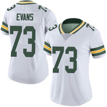 Women's Nike Green Bay Packers Jahri Evans White Vapor Untouchable Jersey - Limited