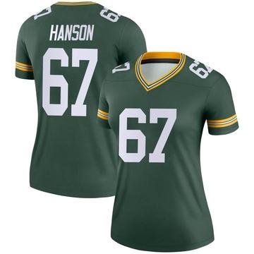 Women's Nike Green Bay Packers Jake Hanson Green Jersey - Legend