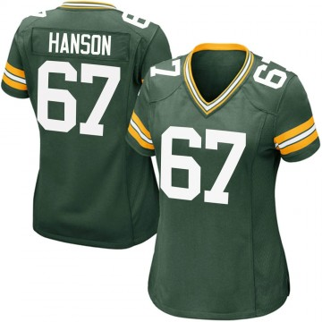 Women's Nike Green Bay Packers Jake Hanson Green Team Color Jersey - Game