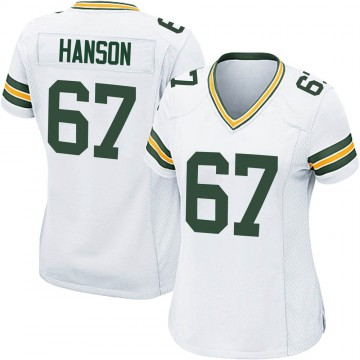 Women's Nike Green Bay Packers Jake Hanson White Jersey - Game