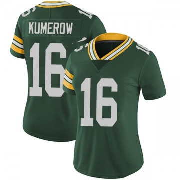 Women's Nike Green Bay Packers Jake Kumerow Green Team Color Vapor Untouchable Jersey - Limited