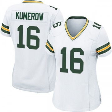 Women's Nike Green Bay Packers Jake Kumerow White Jersey - Game