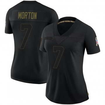 Women's Nike Green Bay Packers Jalen Morton Black 2020 Salute To Service Jersey - Limited