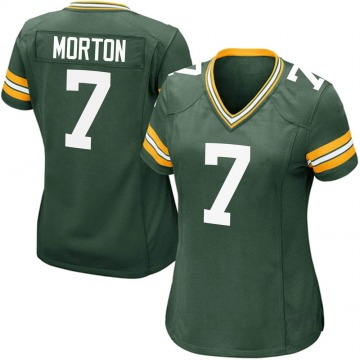 Women's Nike Green Bay Packers Jalen Morton Green Team Color Jersey - Game