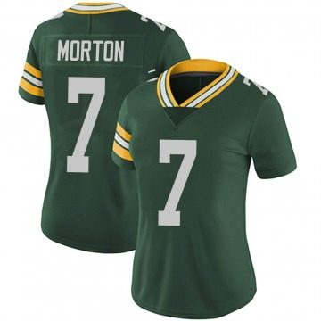 Women's Nike Green Bay Packers Jalen Morton Green Team Color Vapor Untouchable Jersey - Limited