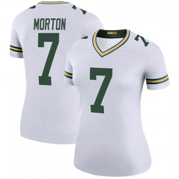Women's Nike Green Bay Packers Jalen Morton White Color Rush Jersey - Legend