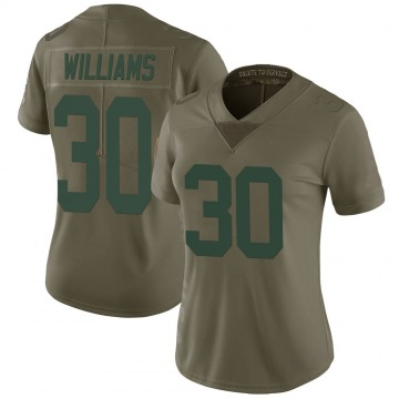 Women's Nike Green Bay Packers Jamaal Williams Green 2017 Salute to Service Jersey - Limited