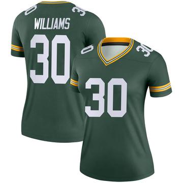 Women's Nike Green Bay Packers Jamaal Williams Green Jersey - Legend