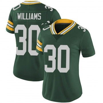 Women's Nike Green Bay Packers Jamaal Williams Green Team Color Vapor Untouchable Jersey - Limited