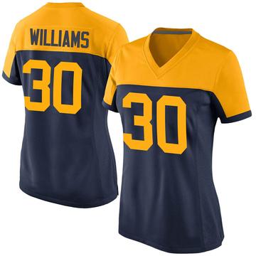 Women's Nike Green Bay Packers Jamaal Williams Navy Alternate Jersey - Game